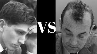 Bobby Fischer faces Viktor Korchnoi in the Pirc Defence - World Chess Candidates 1962