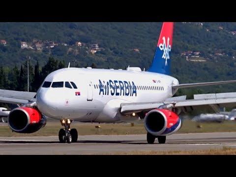 20+ minutes of Plane Spotting @ Tivat Airport TIV / LYTV