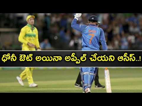 India vs Australia, 3rd ODI: Was Dhoni Out? || Ms Dhoni Gets TROLLED For Not Walking After Edging ||
