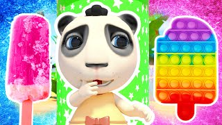 Dolly and Friends play Rainbow Ice Cream Pop it Challenge | Hot vs Cold: Cartoons and Nursery Rhymes