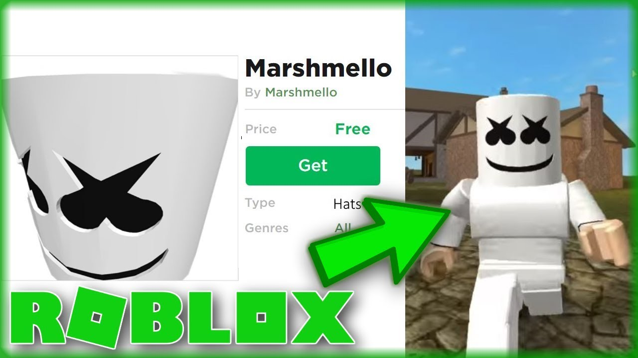 How To Get The Marshmello Head Free Roblox Youtube