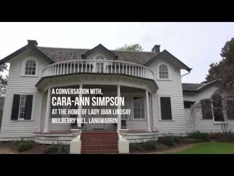 A Conversation with Cara-Anne Simpson at the home of Lady Joan Lindsay_