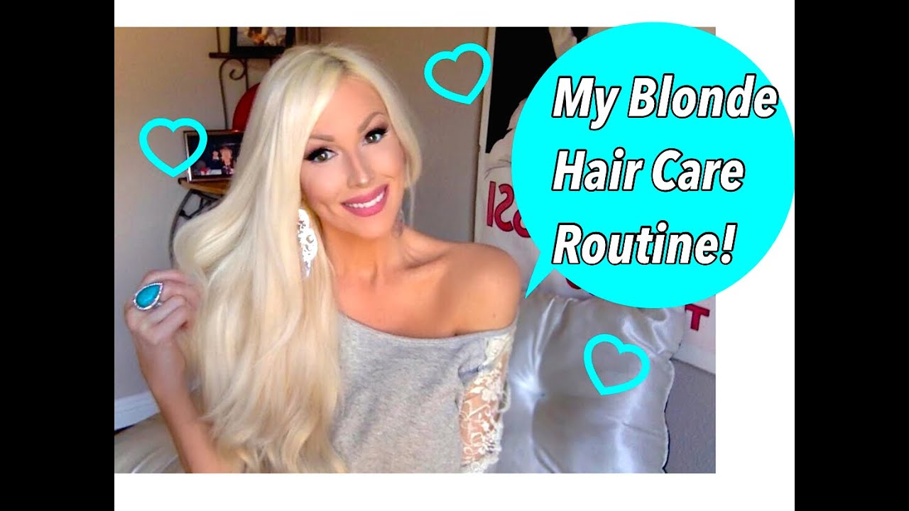 Blonde Hair Care Routine