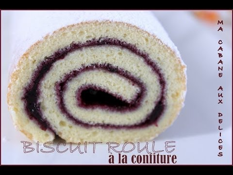 gateau-roulé-a-la-confiture-/-how-to-make-a-rolled-cake-with-jam
