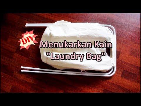 """DIY: Menukarkan Kain """"Laundry Basket"""" IKEA / Custom Laundry Hamper"""