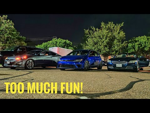 Nighttime Autox Is The Absolute Best! | West Texas SCCA| MK7 Golf R