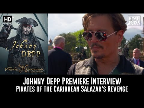 Johnny Depp Premiere Interview - Pirates of the Caribbean: Salazar's Revenge
