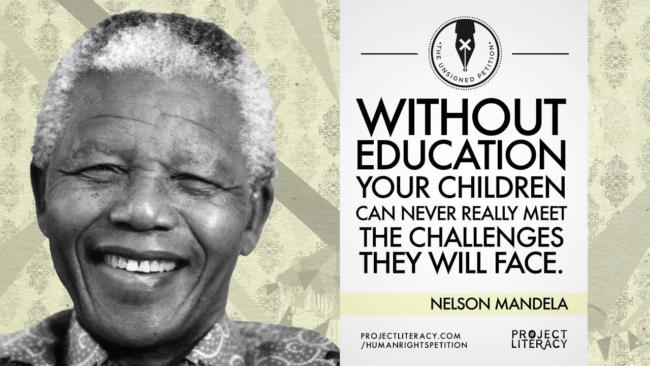 Quotes Nelson Mandela Project Literacy Nelson Mandela Quote  Youtube