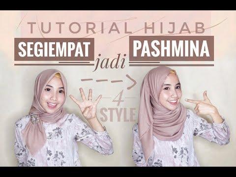 Tutorial hijab menutup dada ala zaskia sungkar.