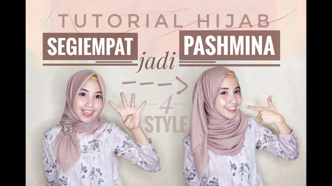 4 Tutorial Hijab Segiempat Jadi Pashmina Paling Beda Youtube