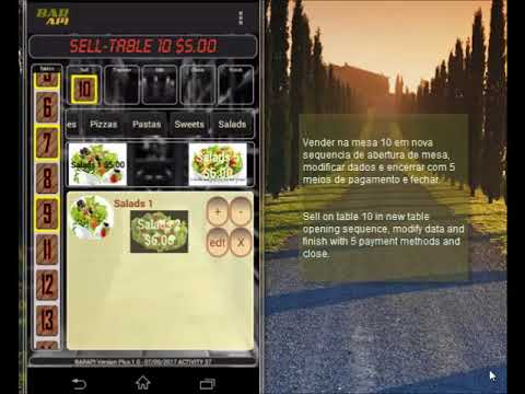 APP for small bars, food trucks. Management of sales and cash register.