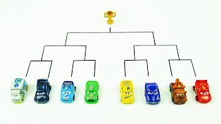 Disney Cars Toys Launcher Race Tournament Vol.18  Mini Racers Tournament