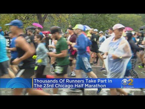 Runners Brave Rain For Half Marathon