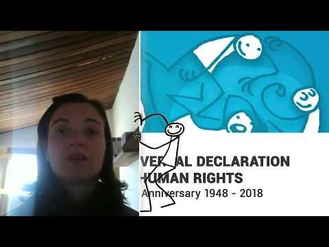 Naiara Sabrina Mendes, Brazil, reading article 3 of the Universal Declaration of Human Rights