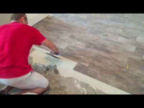 How To Install Wood Looking Tile Youtube