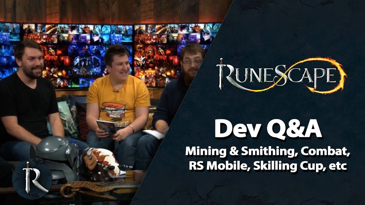 RuneScape Dev Q&A (Nov 2018) - Mining & Smithing, Combat, GameJam, RS  Mobile, Skilling Cup and more