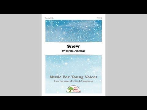 Snow - MusicK8.com Page Turner