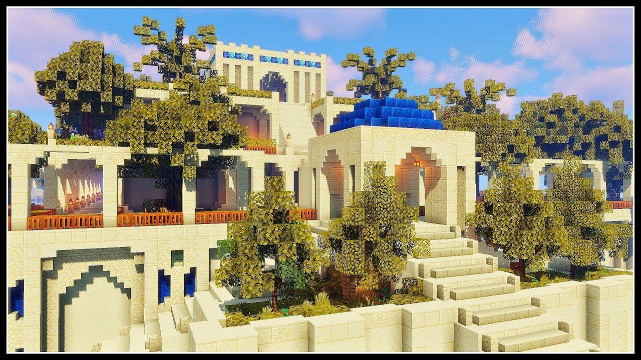 The Hanging Gardens Of Babylon Minecraft Timelapse Youtube