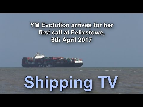 First call: YM Evolution at Felixstowe, 6 Aprill 2017