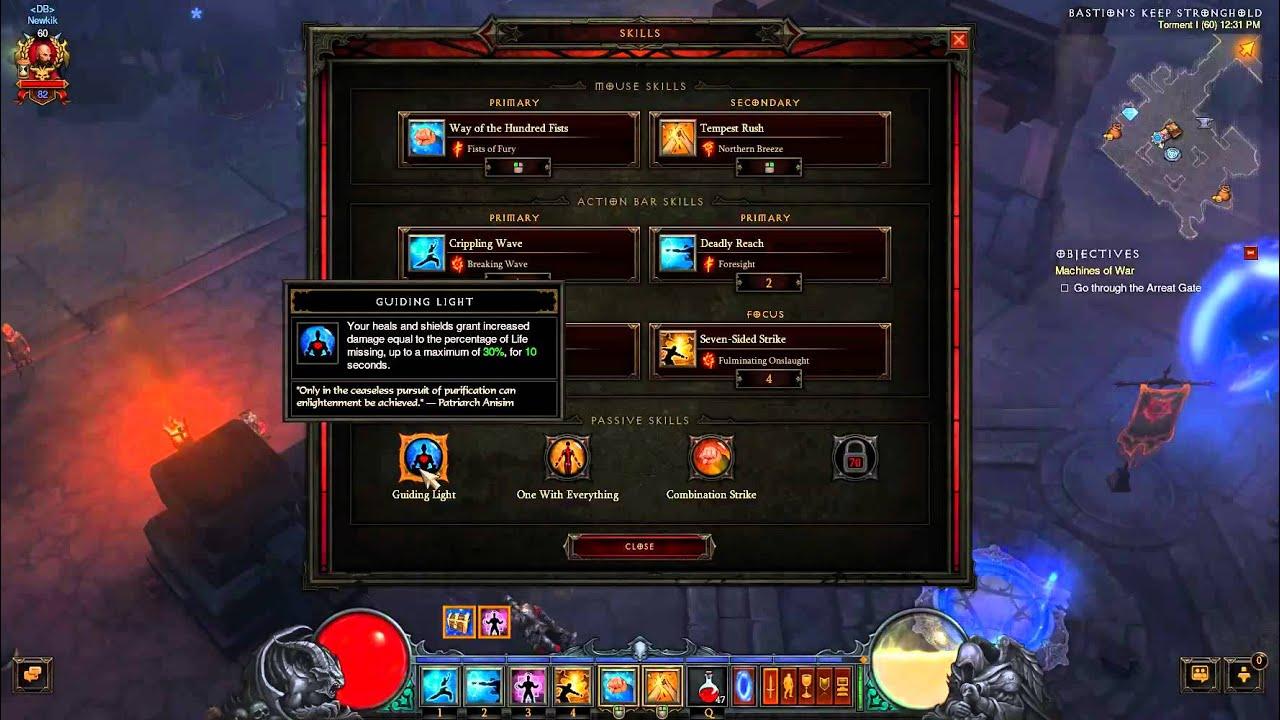 Download Diablo III Combination Strike DPS Monk build w/ Flying Dragon