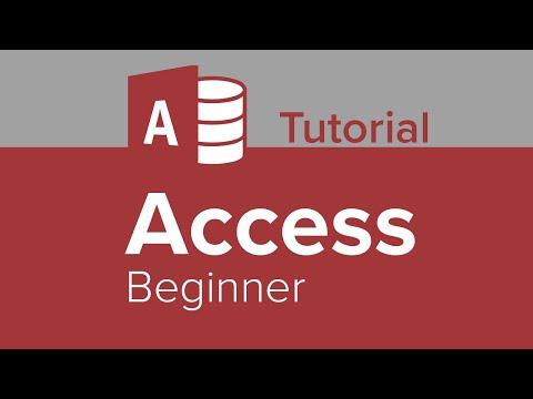 Access Beginner Tutorial