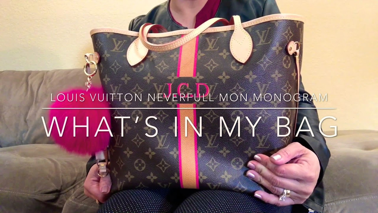b5f71a6a21 What's in my bag 2018 : Louis Vuitton Neverfull Mon Monogram