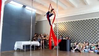 Юлия Тарадуда, воздушные полотна, ROYAL Pole Dance отчетный концерт Винница 2016