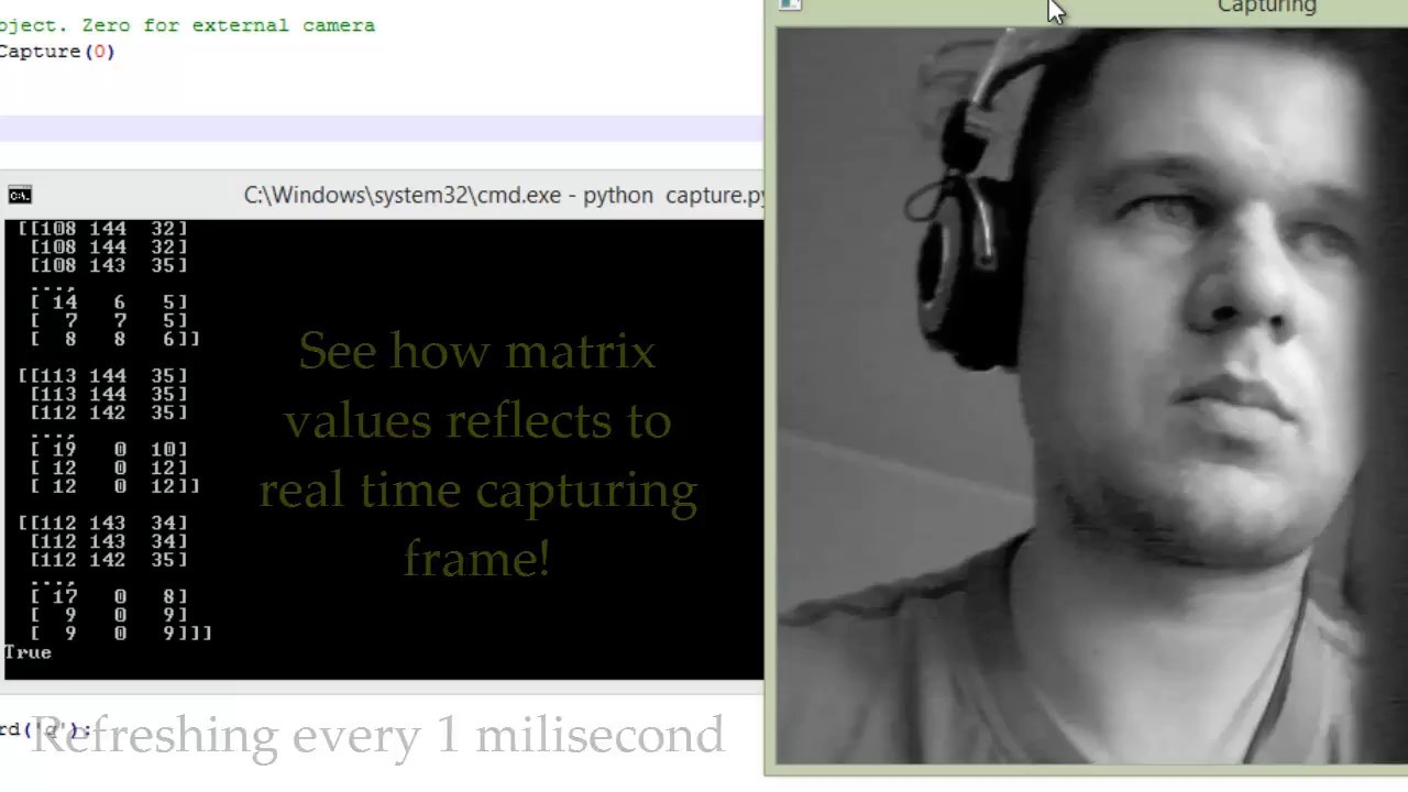 Capture webcam with Python (OpenCV): step by step