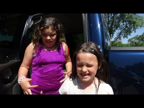 """Real Food Fight In Truck """"Victoria & Annabelle Freak Out"""" Toy Freaks Family"""