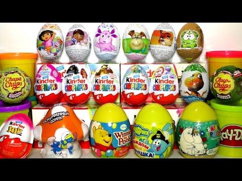 30 Киндер Сюрприз игрушки Барбоскины, Лунтик, Маша и Медведь, Фиксики, Смешарики. Видео для детей