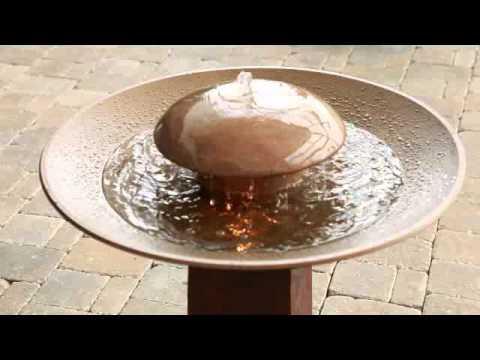 Kenroy Portland Sound Garden Bird Bath Water Fountain   Product Review Video