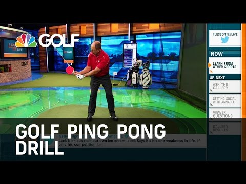 Ping Pong Golf Drill - Lesson Tee Live | Golf Channel
