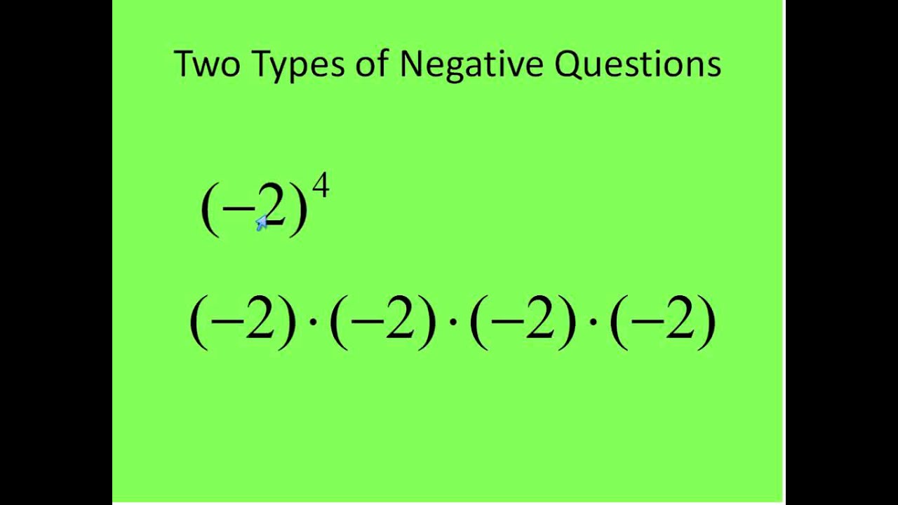 Pre Algebra Exponents Lesson 1 Positive Exponents Simplifying Math