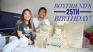 I GOT MY BOYFRIEND 25 PRESENTS FOR HIS 25TH BIRTHDAY!
