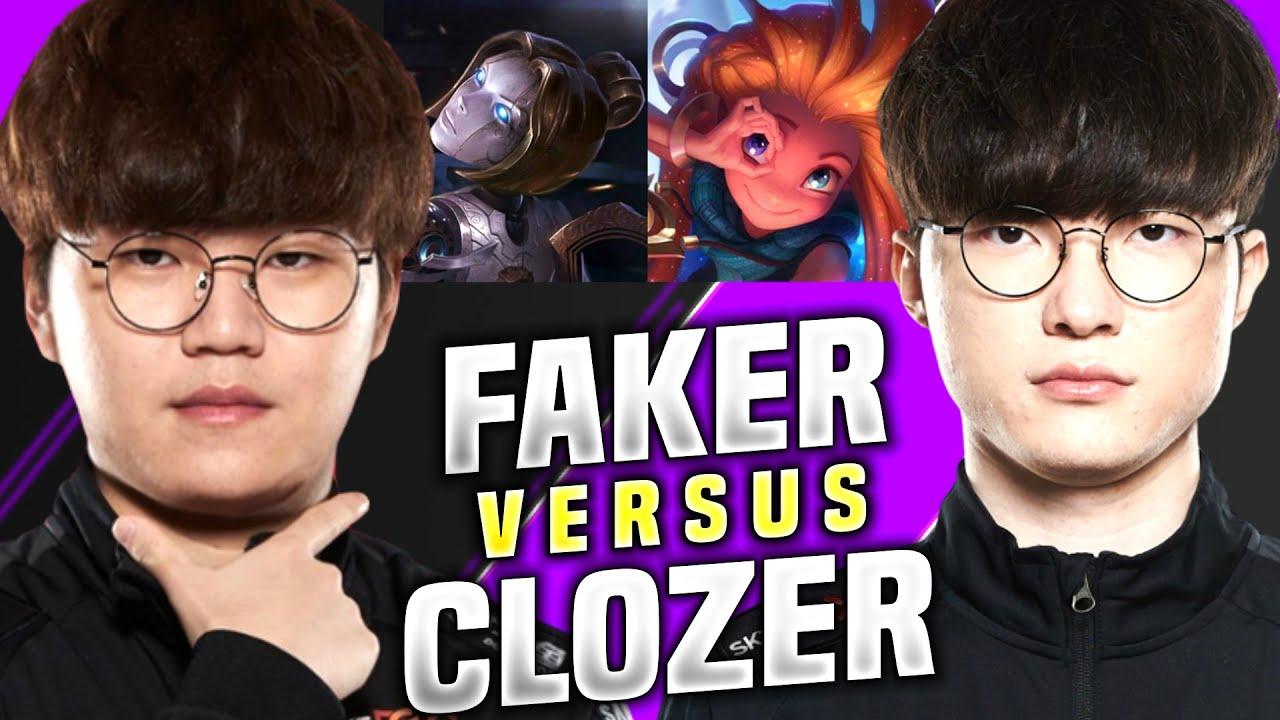 T1 Faker vs T1 Clozer Rematch! - T1 Faker Zoe VS T1 Clozer Orianna! | KR SoloQ Patch 10.15