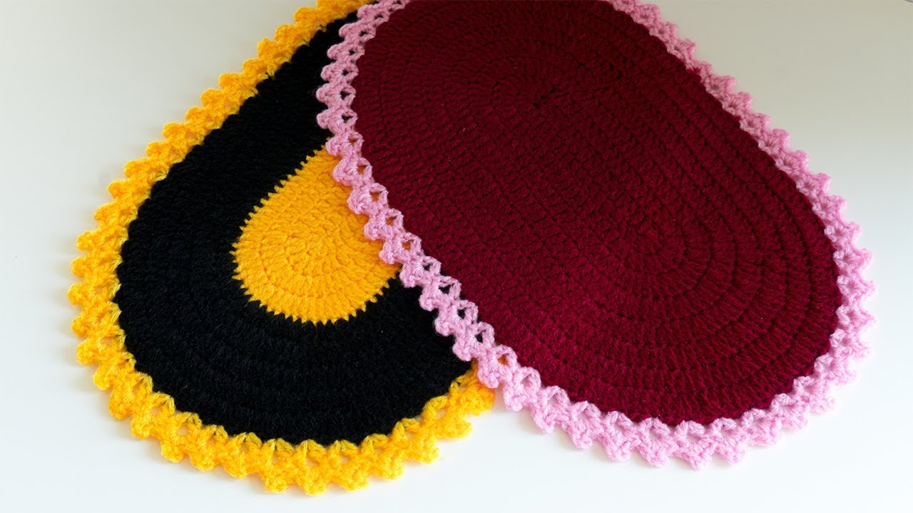 Diy Crochet Tutorial How To Crochet An Oval Placemat By Diy
