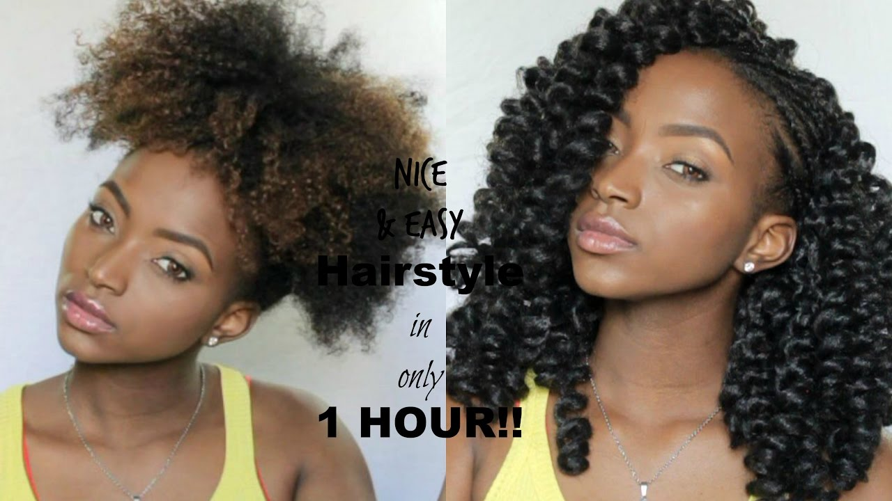 nice & easy hairstyle in (only 1 hour!) | curly crochet braid tutorial