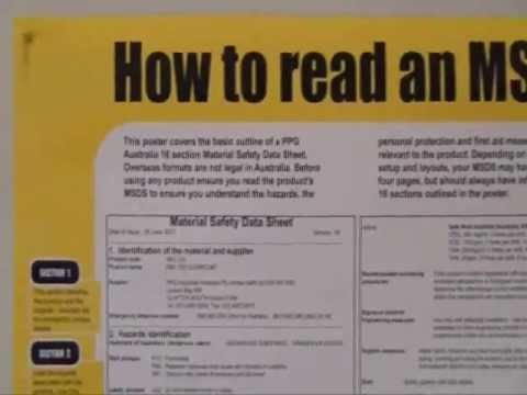 How To Read Msds  Youtube