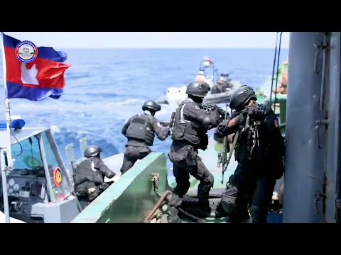Trope Cooperation of Special Forces Train to catch Terrorist on the Sea | Cambodia Military Update