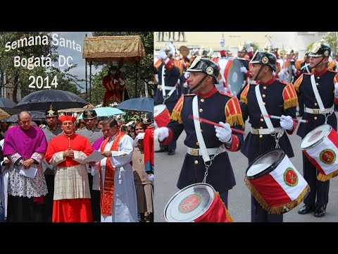 Semana Santa (Easter Week) Parade In Bogotá DC, Colombia 2014 – Presidential Guard Band