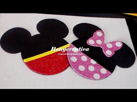 Diy Mickey Minnie Mouse Birthday Invitation Invitaciones De