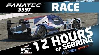 Fanatec 12h of Sebring by Studio 397 on rFactor 2 -  Full Race in #5 ACR Zakspeed LMP2