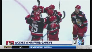 Griffins beat Wolves for lead in playoffs series