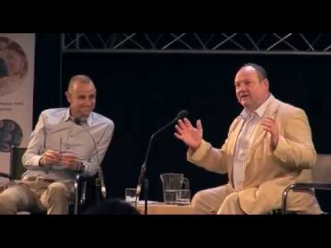 Cheltenham Science Festival - sleep research - Evan Davis and Prof. Russell Foster