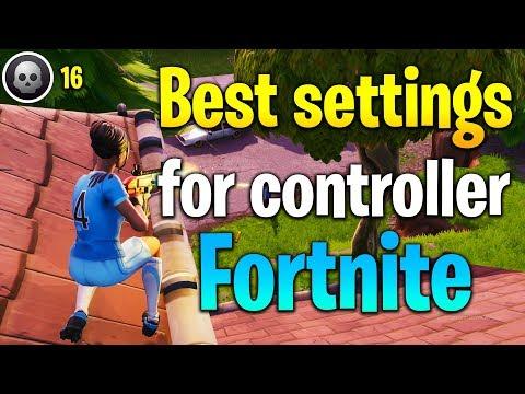 BEST FORTNITE CONTROLLER SENSITIVITY! Fortnite controller settings! (fortnite tips)