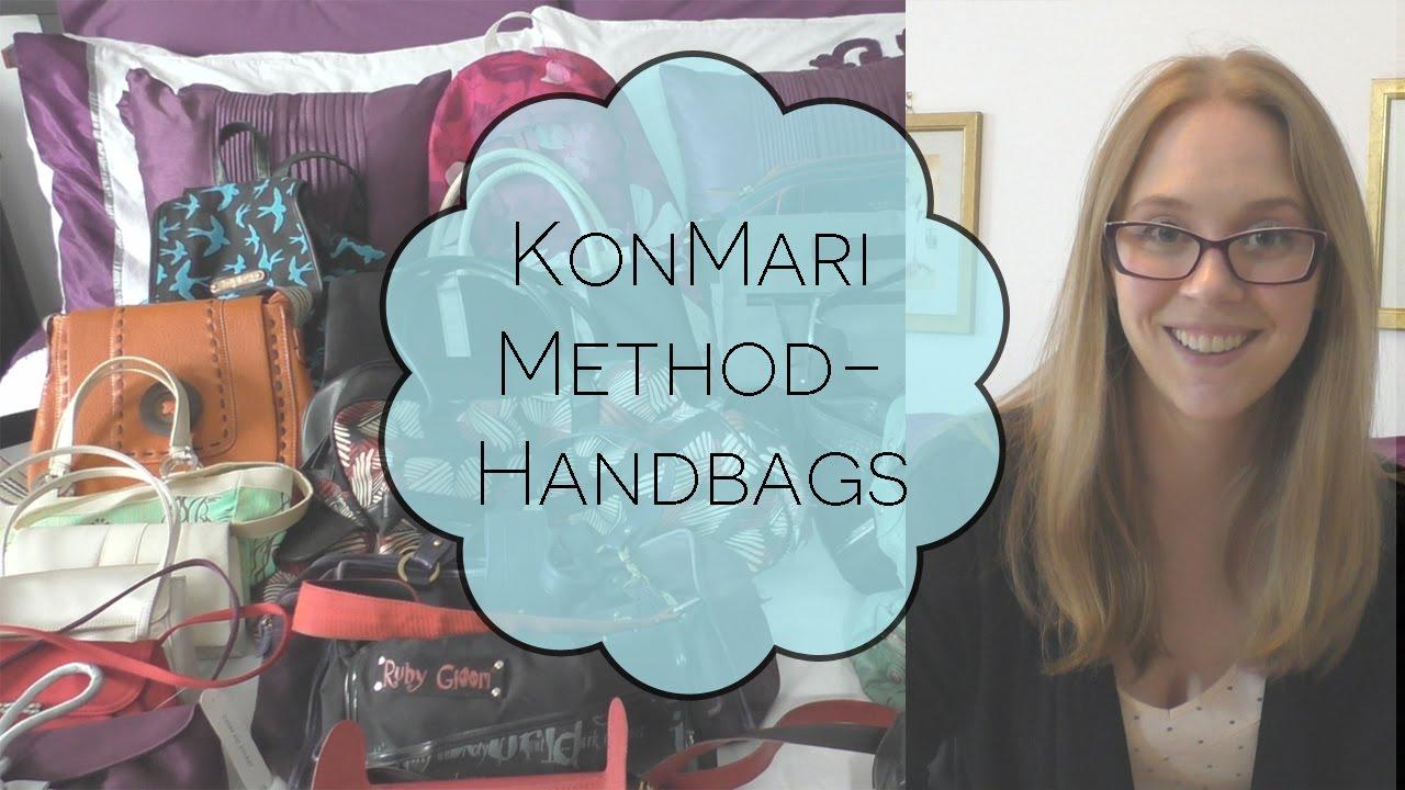 Konmari method handbags youtube