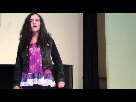 Olivia Monarch singing I'm Wishing by Donna Rhodenizer