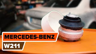 Hogyan cseréljünk Motortartó gumibak MERCEDES-BENZ E-CLASS (W211) - online ingyenes videó