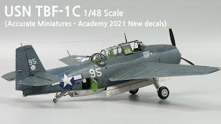 미해군 뇌격기 TBF-1C 어벤저 붓도색(1/48 스케일모형)#42