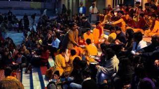 Arati - Offering Ghee Lamps To The Ganga At Rishikesh.